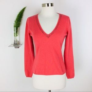 VTG Richard Grand V-Neck 100% Cashmere Sweater (M)